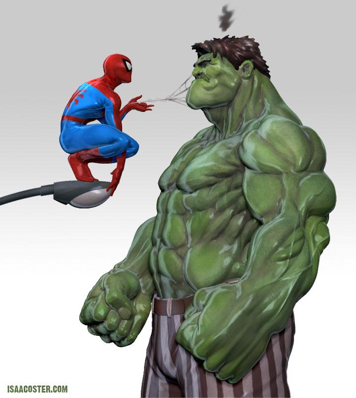 zbrush_hulk_spiderman_isaac_oster