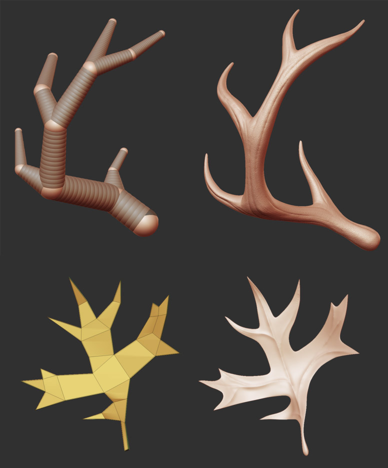 leaves and antlers